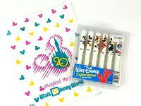 Vtg Walt Disney's Collectables 6 Souvenir Pens 1928-1986 Disneyana Mickey Mouse