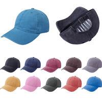 Womens Mens Plain Snapback Baseball Cap Sun Visor Sport Trucker Adjustable Hat
