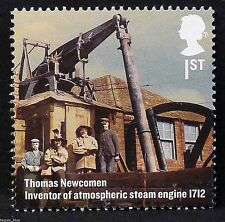 """Thomas Newcomen, Inventor of atmospheric Steam Engine"" on 2012 Stamp - U/M"