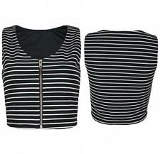 Fitted Striped Sleeveless Other Tops for Women