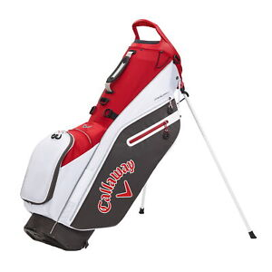 Callaway FAIRWAY C Double Strap  Stand Golf Bag - Charcoal/White/Cardinal - New