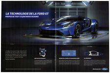 2017 FORD GT Original Centerfold Print AD - Blue car photo French Canada Sport
