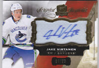 15-16 The Cup Jake Virtanen /35 Auto Patch Scripted Swatches Canucks 2015