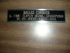 DALLAS COWBOYS 5X CHAMPS ENGRAVED NAMEPLATE FOR PHOTO/DISPLAY/POSTER