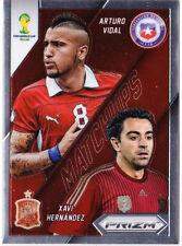 2014 Panini Prizm World Cup Matchups Soccer #3 Arturo Vidal / Xavi Hernandez
