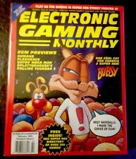 ELECTRONIC GAMING MONTHLY #43-1993 BUBSY W/BONUS NES GAME LIST IN EXC. CONDITION