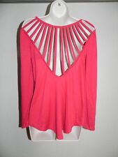 Fredericks Of Hollywood Red Blouse Cut Outs Womens Medium Shirt NWOT