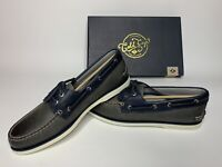 New Men's Sperry Top-Sider Gold Cup A/O 2-Eye Boat Shoes Gray / Navy STS17474