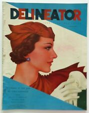 Delineator Fashion Art Deco Magazine July 1934 Rhys Painting Lady Cover Art