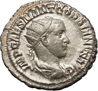 GORDIAN III 240AD Quality Ancient Silver Roman Coin Rome VIRTUS Cult  i54358