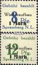 Spremberg (Niederlausitz) 21A-22A (kompl.Ausg.) mit Falz 1945 Ziffern