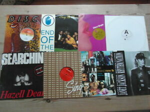 """A COLLECTION OF R&B, SOUL,DANCE,DISCO 12"""" SINGLES x 8-1990's VG-EX-12"""