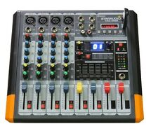 STARAUDIO Pro Amplifier Audio Power Mixer 4 Channel BT Mixer Mixing Console USB