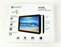 "Azpen A743S 7"" 16GB Android Tablet Quad Core 1.3GHz CPU 1GB Ram"