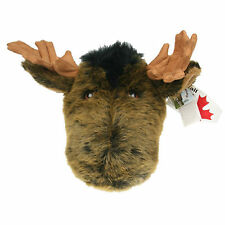 "Stuffed Animal House 15"" Moose Brown Plush Head Wall Mount Walltoy Hunting NWT"