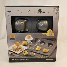 New listing Monster Cake 3D Metal Pan Makes 4 Cakes Halloween Bradshaw Good Cook In Box