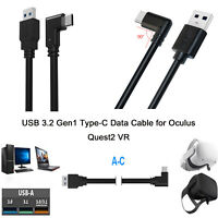 USB 3.2 Gen1 Type-C Data Cable  Elbow Streaming Cable Line for Oculus Quest2 VR