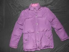 SWAN BRAND UTEX CORP GREY DUCK DOWN / FEATHER PUFFER COAT REVERSIBLE SIZE SMALL