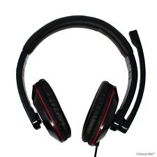 USB Auriculares Cascos con Boom Micrófono para Pc Portátil Skype / MHS-U-001