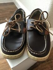 SPERRY TOP-SIDER Bluefish kids boat shoes loafers Leather Brown 3.5M boys