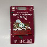 Disney Epcot 2020 International Festival of Holidays Chip & Dale Passholder Pin