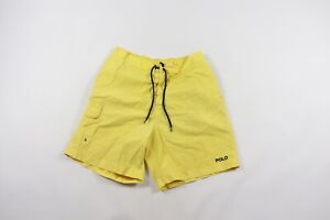 Vintage 90s Polo Sport Ralph Lauren Mens Large Spell Out Nylon Swim Shorts