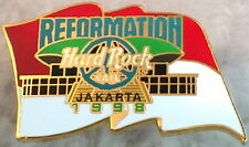 Hard Rock Cafe JAKARTA 1998 Reformation Flag PEACE PIN - HRC Catalog #3769