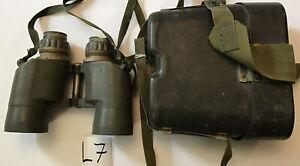 Old Army Marine Tank US Military Binocular M19 7X50 & Case Repair Or Parts (L7)