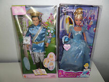 NEW Disney Princess Sparkle Cinderella Box Mattel 2004 Ken Fairy Tail Prince