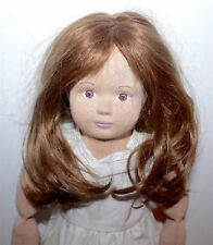 Vintage Stockinette Girl Doll with Molded Stockinette Painted Face & Wig