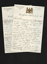 letter c. 1920 on embossed stationery The Dufferin Hotel, New Brunswick, Canada