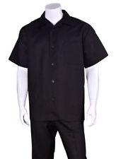 New Men's 2pc Luxury Linen Solid Color Short Sleeve Casual Walking Suit Set 2806