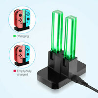 For Nintendo Switch Joy-Con 4 Port Controller Charger LED Charging Dock Station