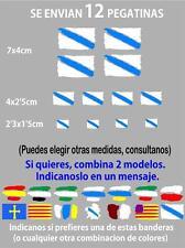 1073-4 x Bandera Galicia REFLECTANTE Pegatina Sticker Vinilo Coche Adhesivo