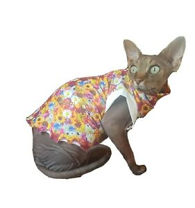 sizes MEADOW sweater coat top for a Sphynx cat - cat clothes, Katzenbekleidung
