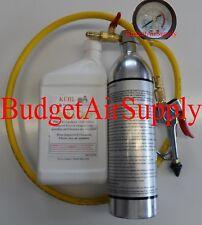 HVAC BRX11 LIQUID Flush Kit ,EZTRIGGER Handle,Hose w PRESSURE GAUGE+32oz LIQUID