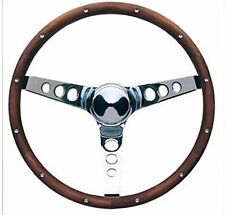 "60-73 VW Volkswagon Grant Wood Steering Wheel Chrome 15"" Walnut"