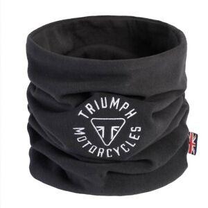 GENUINE Triumph Motorcycles Longstone Skull Neck Tube Buff Black Fleece NEW