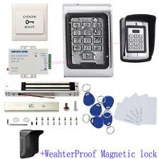 Metal Waterproof Access Control Keypad Security Entry Door System Kit Raid Shied