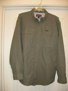 Patagonia Men's Fly Fishing Long Sleeve Shirt Medium