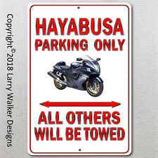Hayabusa Parking only Aluminum sign with All Weather UV Protective Coating