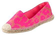 NIB Juicy Couture Neon Pink GIGI Cheetah Canvas Espadrille  Flats 9 M $198