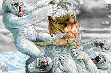 CAVEWOMAN INTERNET EXCLUSIVE - Snow 3 Angry Storm - Sgn/Num - Ltd to 400 - Nude