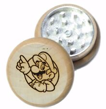"""Nintendo Mario Size 2.15"""" Inches or 55 mm Wooden Herb CNC Tobacco Grinder"""