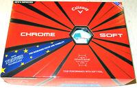 CALLAWAY TRUVIS LTD EDITION CHROME SOFT 'EU LOGO' GRAPHENE GOLF BALLS 1X12 NEW