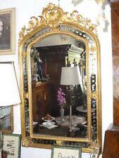 Grande specchiera dorata lavorata specchio foglia oro ep' 800 ANTICA 190x111 n40
