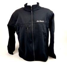 Jack Daniels Eco  Men's Soft Shell Jacket Coat Zip Logo  Spell out Mens Med