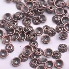 50/100Pcs Antique Silver/Gold/Bronze Round Charm Spacer Beads for Bracelet