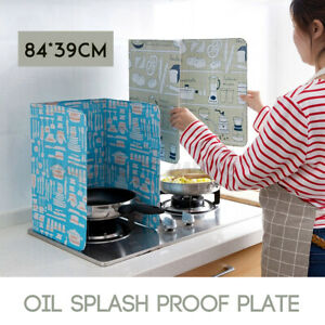 84*39cm Kitchen Oil Aluminium Foil Plate Gas Stove Oil Splatter Screen  New