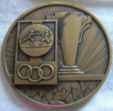 MED9068 - MEDAILLE ESCRIME FFE CHAMPIONNAT DU LYONNAIS 1968